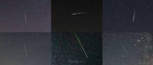 diverse meteoren closeup