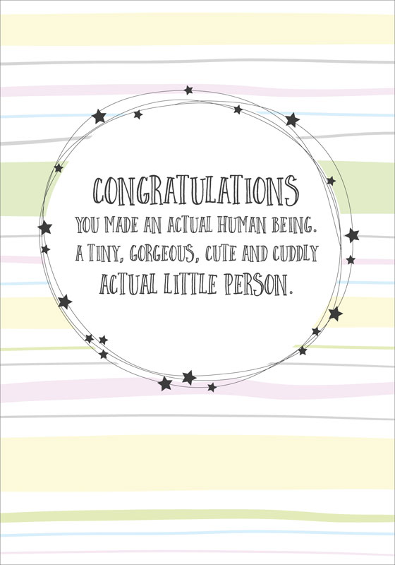 Dandelion Stationery Congratulations Baby Card D3319