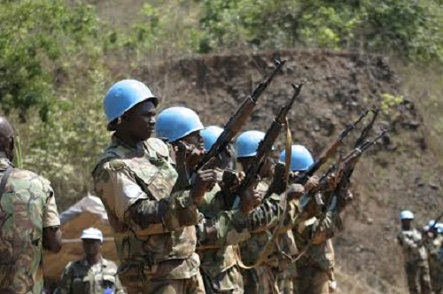 Nigerian peacekeepers of UNMIL