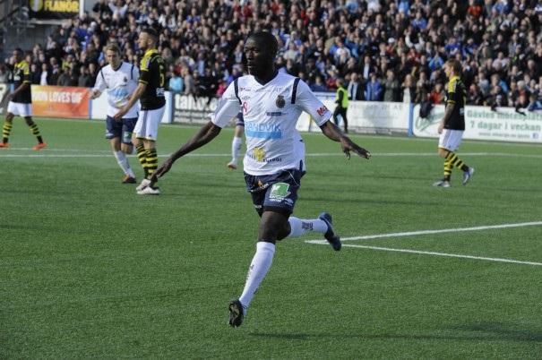 Gefle's Dioh Williams celebrate his goal against AIK Photo: gefleiffotboll.se