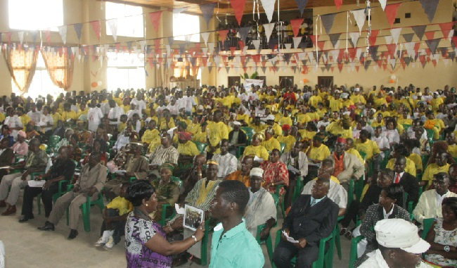 A huge turnout at the opening of the CBL's Nimba Rural Community Finance Institution