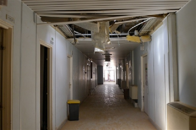 The former maternity wing of Ubari hospital in southern Libya was shelled during fighting Photo: Tom Westcott/IRIN