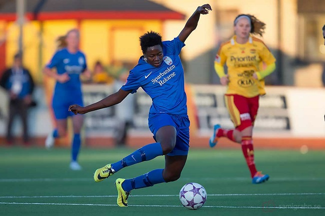 Cameroonian Enganamouit remains unstoppable in the female championship Photo: samigrahn.se