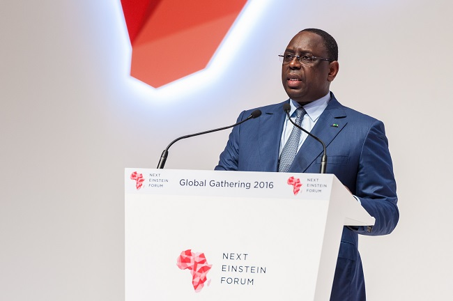 President Sall tells the audience that science must make Africa better