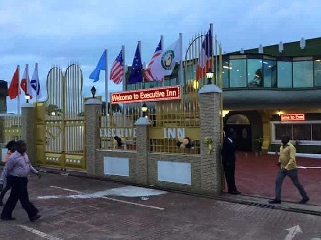 One of Liberia newest hotels, Executive Inn Photo: https://www.facebook.com/george.kailondo.5