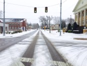 Bankhead St in snow