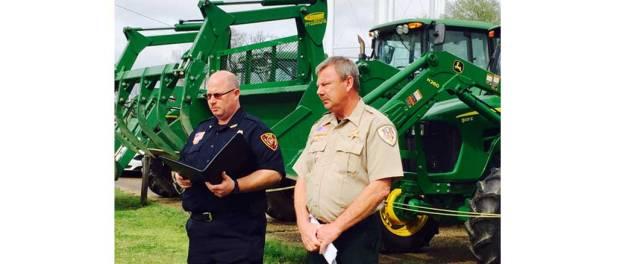 Stolen farm tractors