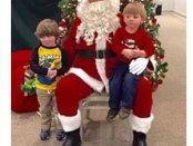 Santa at Christmas at the Museum