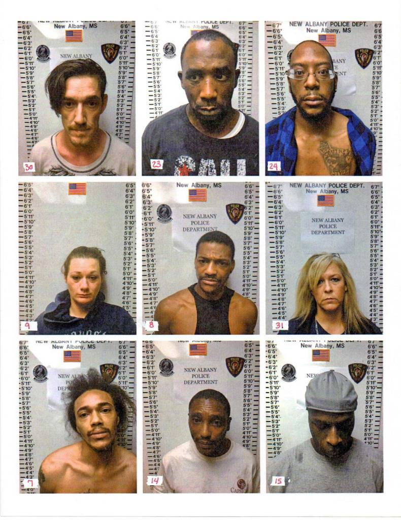 New Albany MS drug arrests 4-2019