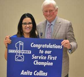 New Albany MS Anita Collins and Walter Grace Service First
