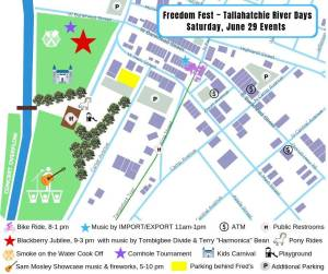 New Albany MS Freedom Fest activities map