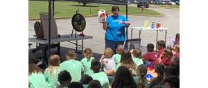 New Albany MS NAES Relay for Life field day