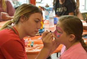 New Albany MS 2019-2020 Back to school health fair face painting