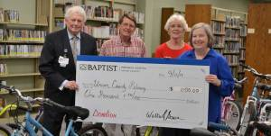 New Albany MS Baptist donation for housing bicycles