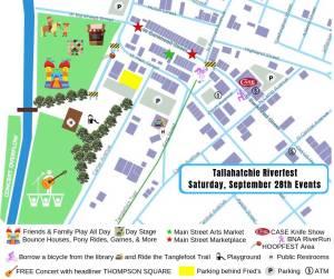 New Albany MS Riverfest map