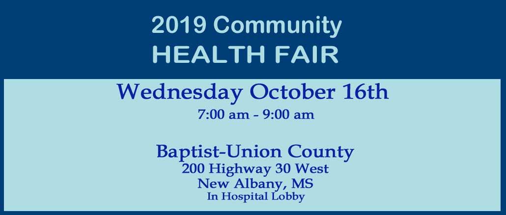 New Albany MS 2019 Community Health Fair
