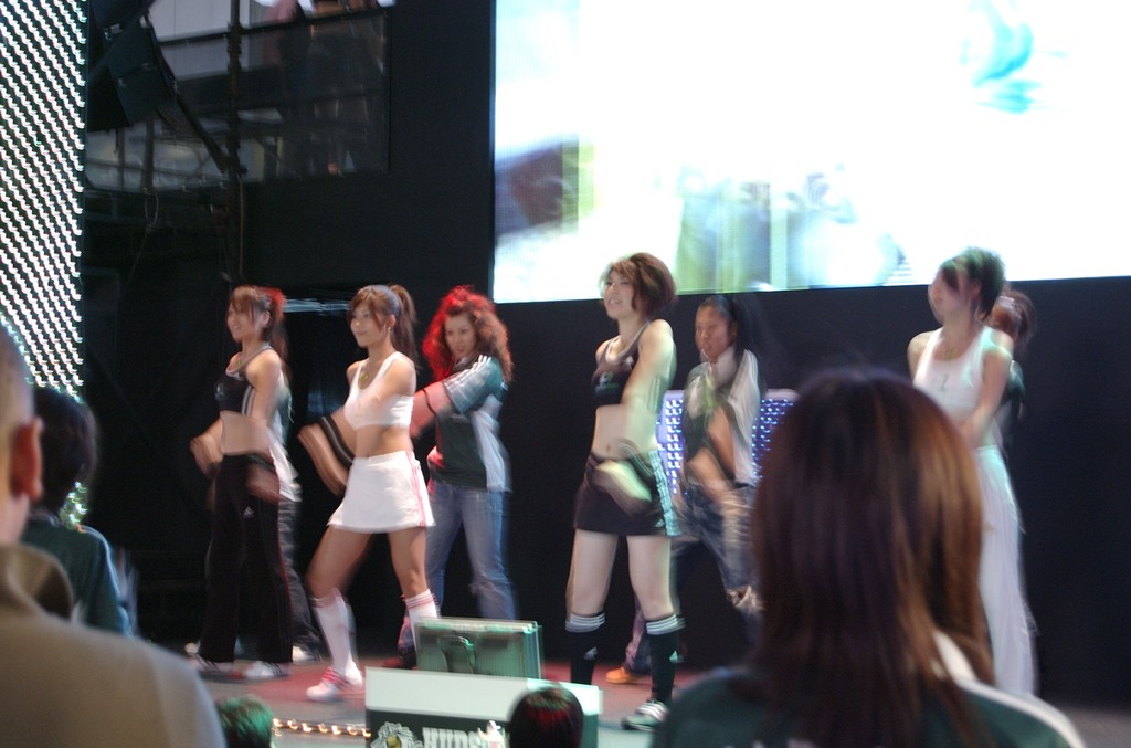 Tokyo Game Show 2007 stage dancing