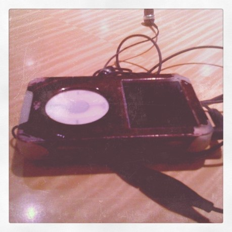 My old, old 15GB 3rd gen iPod in an equally old iSkin case.
