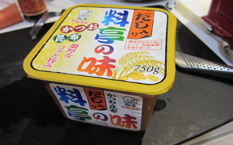 A bit of miso dashi