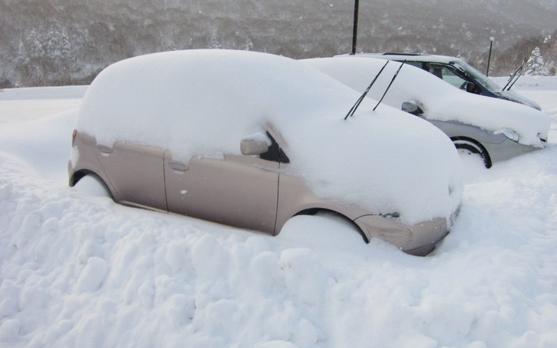 Dig out your car in Shiga Prince Hotel