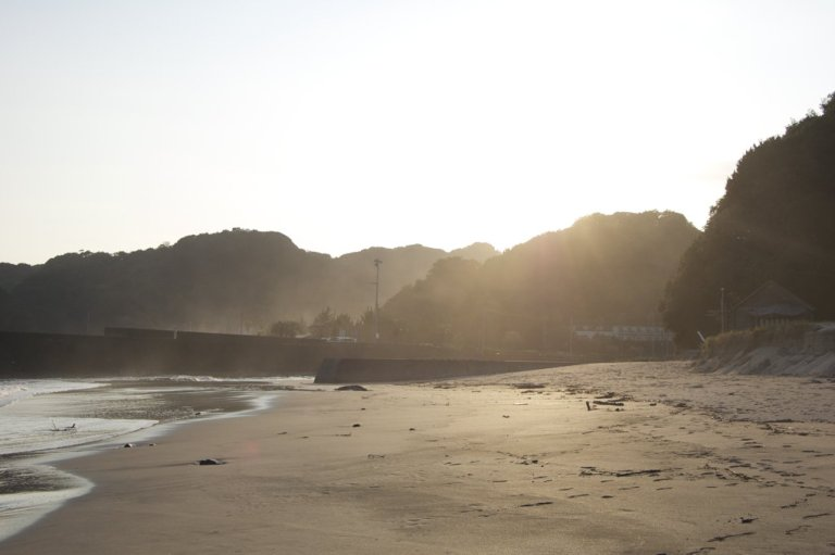 Beach around sunset