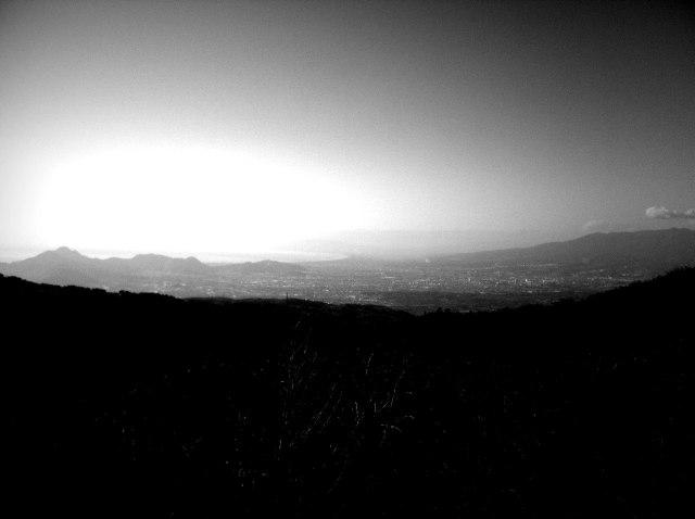 Black and White Mountains viewing down to the Izu coastline.