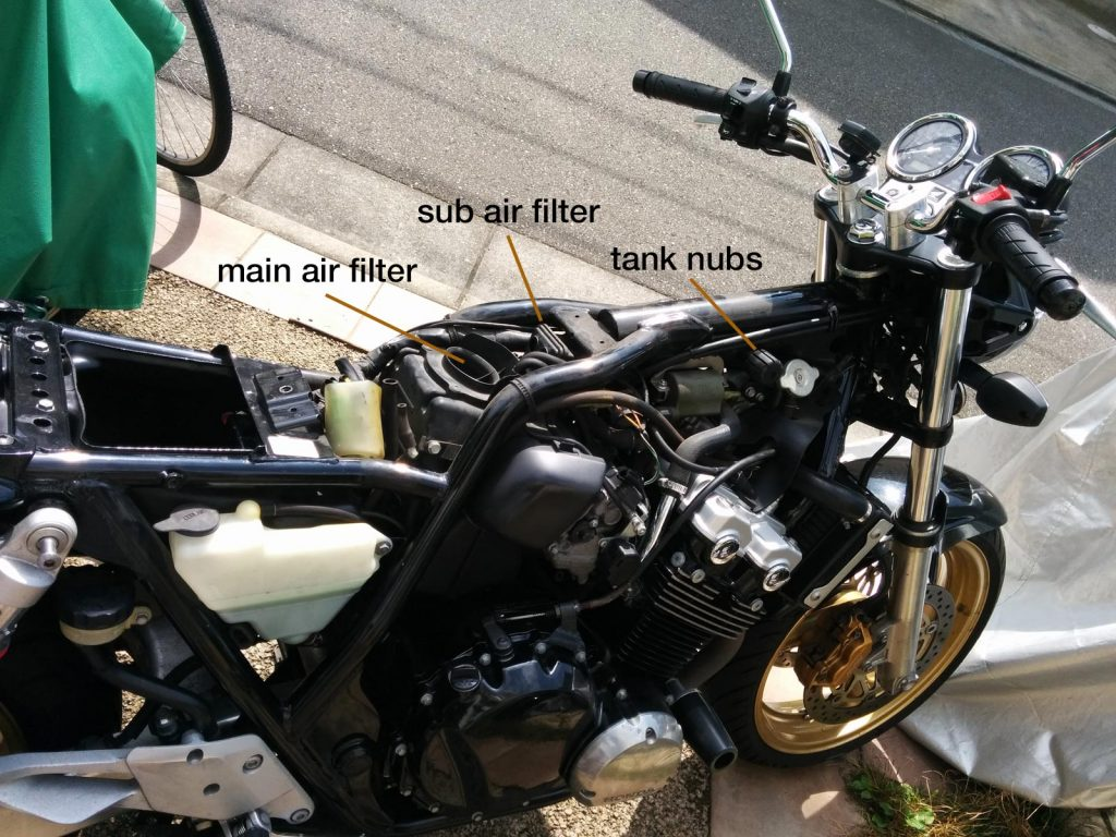 Air Filters on the Honda CB400