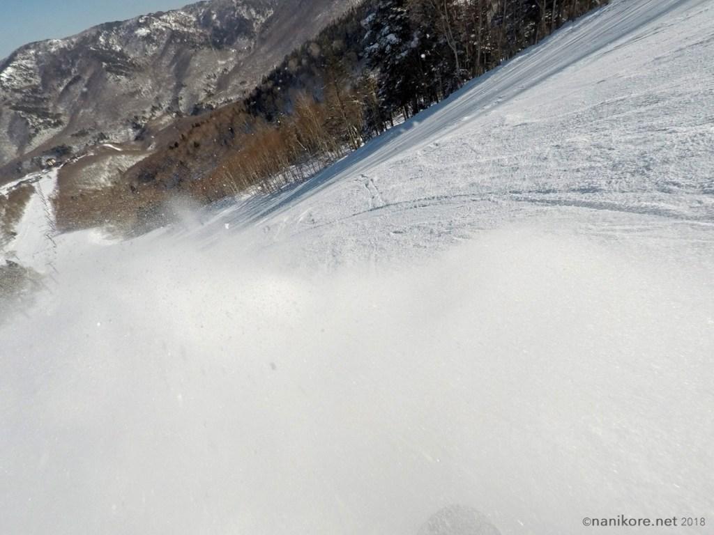 A bit of powder still on the slopes