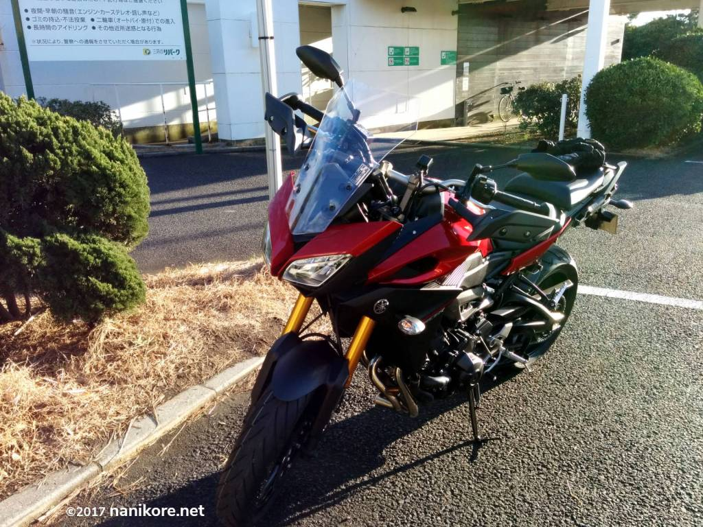 Yamaha MT-09 Tracer motorcycle near MOS