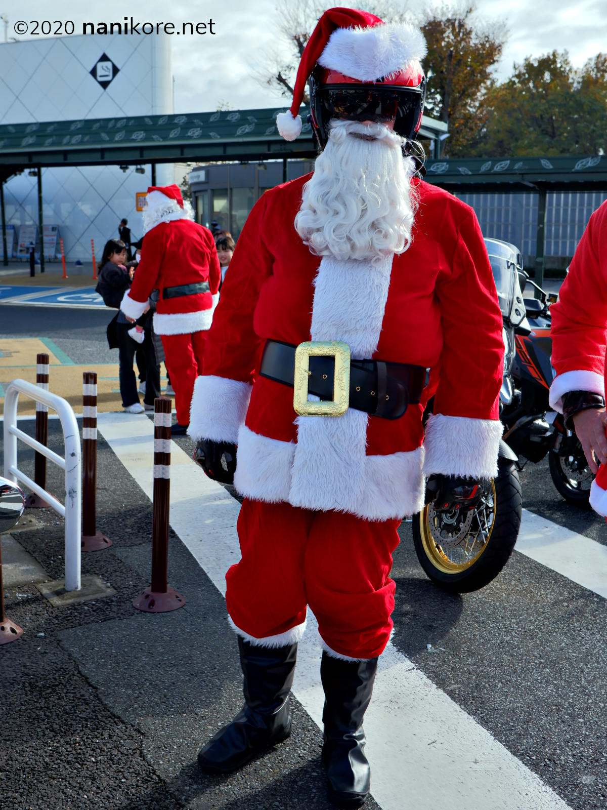 Of course Santa is a biker!