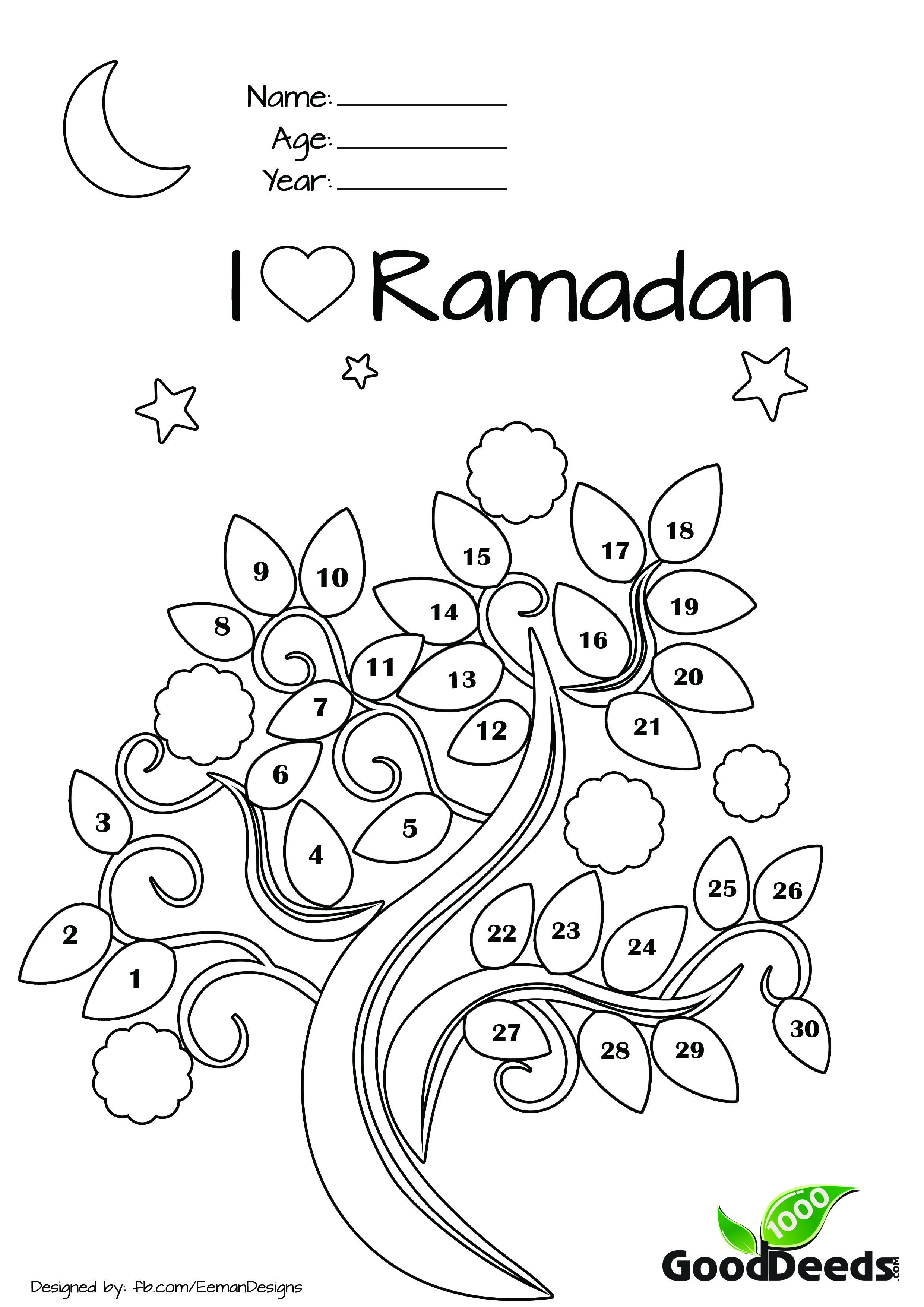 Ramadan Fasting Chart For Children Ask Nanima