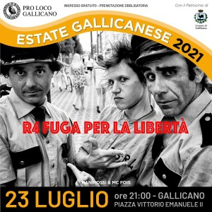 R4 fuga per la libertà a Gallicano!