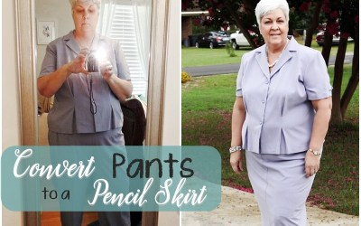 How to Convert Pants to a Pencil Skirt