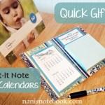 Quick Gift: Post-it Note Desk Calendars