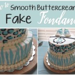 How to Smooth Buttercream to Fake Fondant