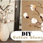 DIY Cotton Stem Bouquet