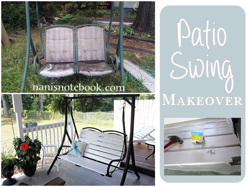 Patio Swing Makeover