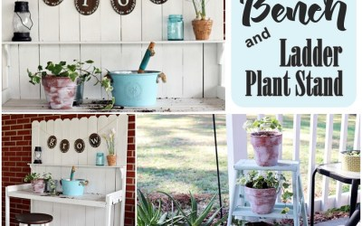 Potting Bench and Ladder Plant Stand