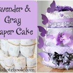 Lavender and Gray Diaper Cake