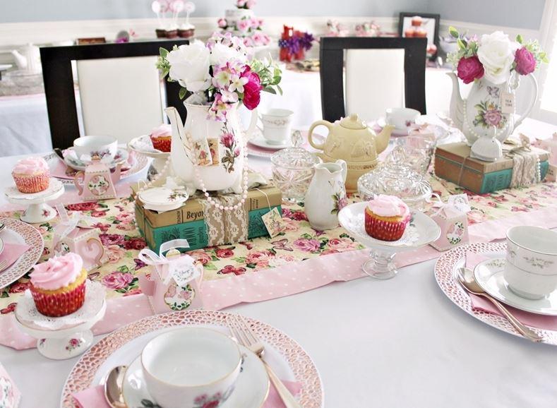 pink vintage tea party