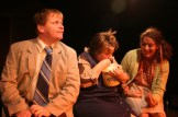 """Brian Habicht as Norman, Kelly Keaton as Clara, Christi Marsico as Sheila in Actors Co-op production of """"The Boys Next Door"""" by Tom Griffin, directed by Nan McNamara"""