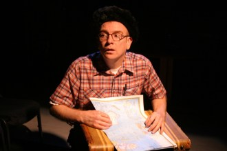 """Scott Ward as Arnold in Actors Co-op production of """"The Boys Next Door"""" by Tom Griffin, directed by Nan McNamara"""