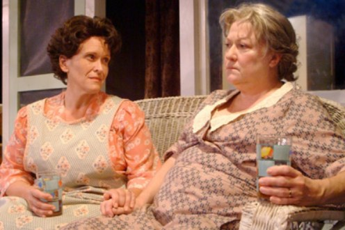 "Linda Kerns as Mrs. Gill and Bonnie Bailey-Reed as Mrs. Brummett in ""See Rock City"" by Arlene Hutton, directed by Nan McNamara."