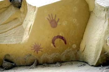 La pittura rupestre del Chaco Canyon, opera degli indios Anasazi, che ritrae la Luna assieme alla Supernova, poi denominata SN 1054
