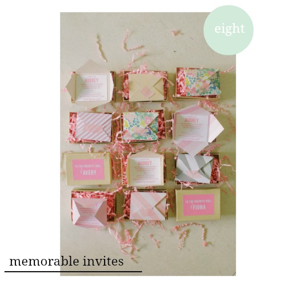 memorable party invitations