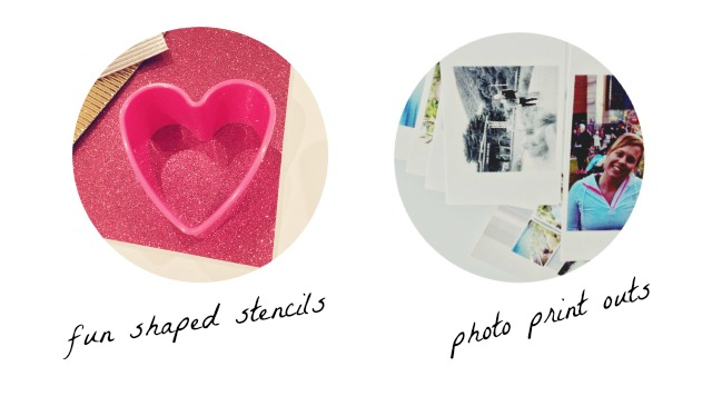 Photos + Stenciles - DIY Photo Bookmarks