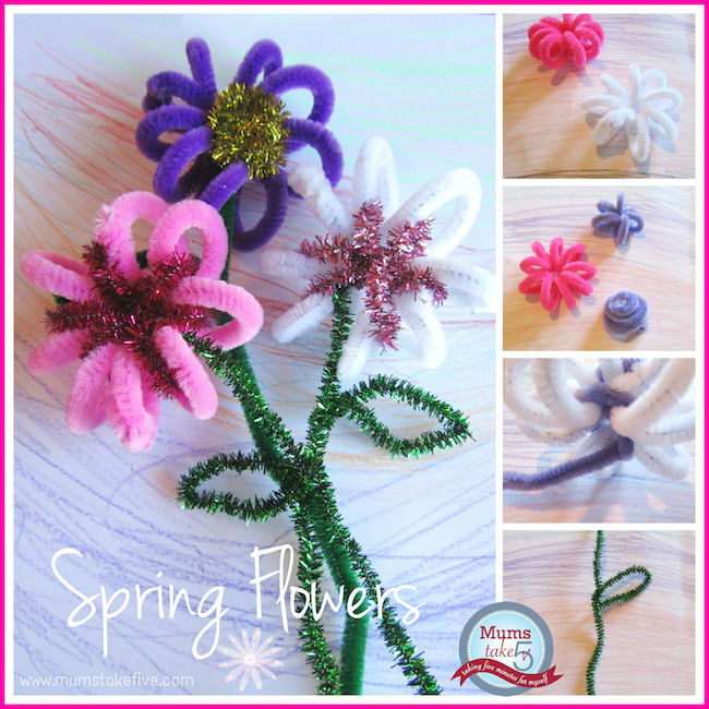 Featured 5 Spring Projects: Spring Crafts: Pipe Cleaner Flowers