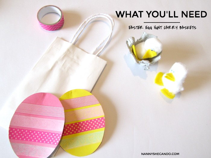 DIY Easter Egg Hunt Carry Baskets - What You'll Need, NANNY SHECANDO