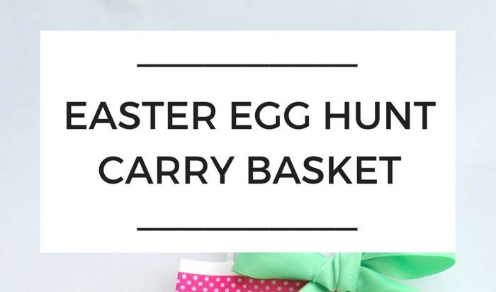 Easter Egg Hunt Carry Basket Craft NANNY SHECANDO