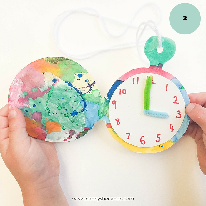 How To Make A Paper Pocket Watch, Toddler Craft, Easy Kids Craft, Olivia Foster, A Crafty Living, NANNY SHECANDO